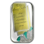 1 oz Wedding Enameled Silver Bar (w/Box & Capsule)