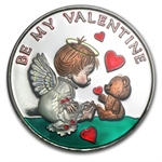 Be My Valentine Enameled 1 oz Silver Round (w/box & capsule)