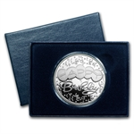 1 oz Happy Birthday Balloons Silver Round (w/Gift Box & Capsule)