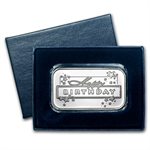 1 oz Happy Birthday Stars Silver Bar (w/Gift Box & Capsule)
