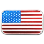 1 oz American Flag Enameled Silver Bar (w/Box & Capsule)