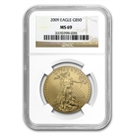 2009 1 oz Gold American Eagle MS-69 NGC