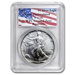 1993 Silver American Eagle - Gem Unc PCGS - World Trade Center