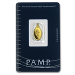 1 gram Rose Oval-Shaped Pamp Suisse Gold Pendant