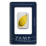 2.5 gram Rose Oval-Shaped Pamp Suisse Gold Pendant