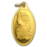 5 gram Fortuna Oval-Shaped Pamp Suisse Gold Pendant