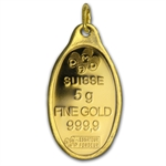 5 gram Rose Oval-Shaped Pamp Suisse Gold Pendant