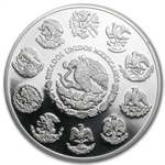 2009 2 oz Proof Silver Mexican Libertad (In Capsule)