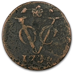 Netherlands East Indies 1726-1794 Duit Bronze New York Penny
