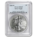 2008-W (Burnished) Silver American Eagle MS-69 PCGS