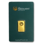 5 gram Perth Mint Gold Bar .9999 Fine (Plain back)