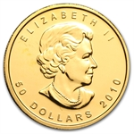 2010 1 oz Gold Canadian Maple Leaf - Brilliant Uncirculated
