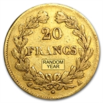 France Gold 20 Francs Louis Philippe Avg Circ