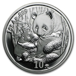 2005 Silver Chinese Pandas 1 oz - (Out of Plastic)
