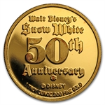 1 oz Disney Snow White 50th Anniversary Gold Round