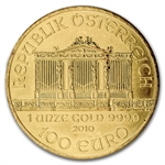 2010 1 oz Gold Austrian Philharmonic - Brilliant Uncirculated