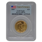 2009 1/2 oz Gold American Eagle MS-70 PCGS (First Strike)