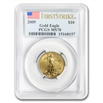 2009 1/4 oz Gold American Eagle MS-70 PCGS (First Strike)