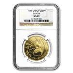 1985 1 oz Gold Chinese Panda MS-69 NGC