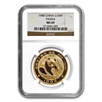 1988 1 oz Gold Chinese Panda MS-69 NGC