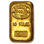 3.75 oz 10 Tola Credit Suisse Gold Bar .999 Fine
