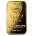1 oz Vintage Engelhard Gold Bar .9999 Fine