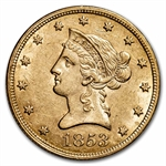 1853 $10 Liberty Gold Eagle - Almost Uncirculated