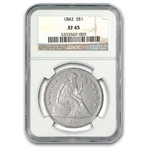 1842 Liberty Seated Dollar Extra Fine-45 NGC