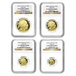 2008-W 4-Coin Gold Buffalo Set PF-70 NGC