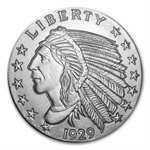 5 oz Indian Half Eagle (Replica) Silver Round .999 Fine