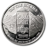 16 Gram Silver Rounds - Coors Light .999 Fine