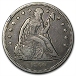 1860-O Liberty Seated Dollar - Very Fine