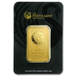 10 oz Perth Mint Gold Bar .9999 Fine (In Assay)