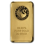 20 gram Perth Mint Gold Bar .9999 Fine (In Assay)