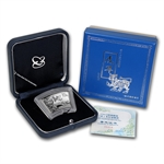 2010 Tiger Fan Shaped 1 oz Silver (W/Box & Coa)