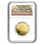 2009-W 1/2 oz Proof Gold Anna Harrison PF-70 NGC UCAM