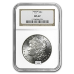 1878-1904 Morgan Dollars - MS-67 NGC