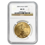 2009 1 oz Gold American Eagle MS-70 NGC