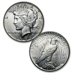 Peace Dollar Set Complete - AU (In Dansco Album) - 24 Coins