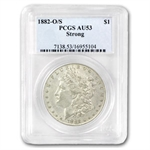 1882-O/S Morgan Dollar - Strong AU-53 PCGS Top-100 VAM
