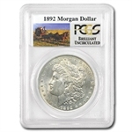 1892 Brilliant Uncirculated PCGS Stage Coach Silver Dollars