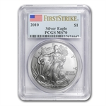 2010 Silver American Eagle - MS-70 PCGS - First Strike