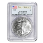 2010 Silver American Eagle - MS-69 PCGS - First Strike