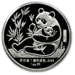 1987 1 oz Sino-American Proof Platinum Panda (Sealed w/Box & CoA)