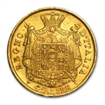 Kingdom of Italy (1807-1814) 40 Lire Gold Coins AGW .3734