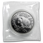 1997 1 oz Silver Chinese Panda - (Sealed) - Small Date