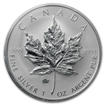 2009 1 oz Silver Canadian Maple Leaf - Lunar OX Privy