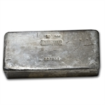 50 oz Engelhard Silver Bar (Poured, Vintage) .999 Fine