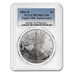2006-W (3-Coin) Silver Eagle Set MS-70 & PR-70 DCAM PCGS