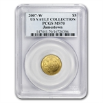 2007-W Jamestown - $5 Gold Commemorative - MS-70 PCGS